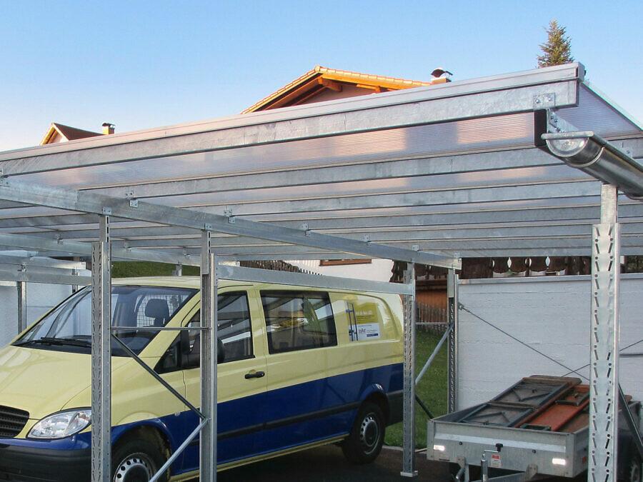 LEO Carport mit Transparentdach