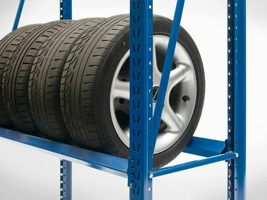 LEO Lagerregal mit Reifen-Traversen